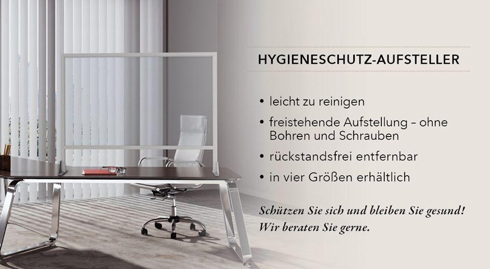 Hygieneschutz-Aufsteller